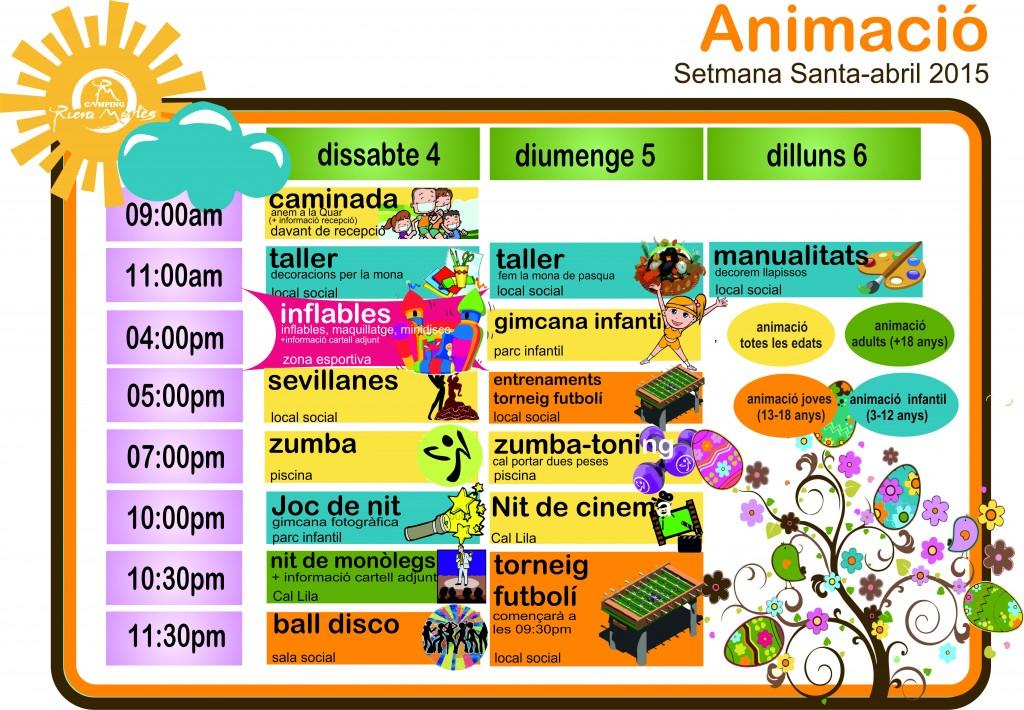 activitats càmping riera merlès - animació càmping muntanya - activitats càmping - animació per nens - programa d'activitats