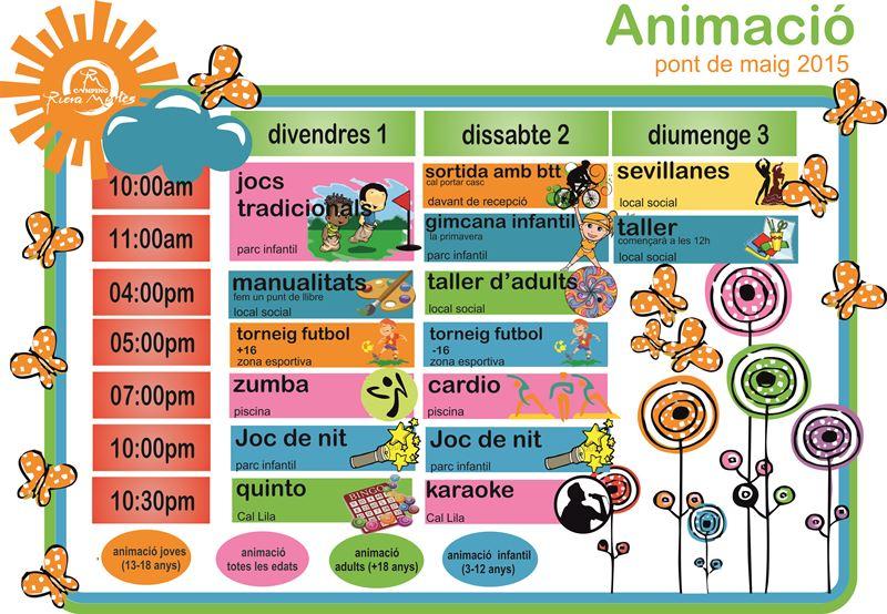 activitats pont de maig camping riera merlès animació càmping riera merlès animacio camping bergueda - animació campin muntanya